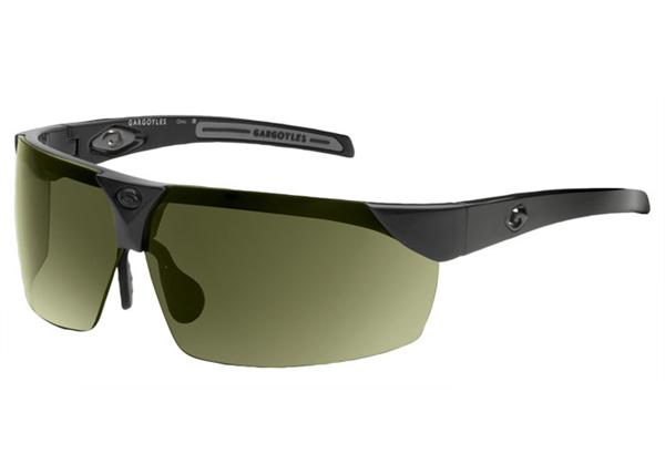 Gargoyles Sunglasses - Trial Black with Green Lens - Instinct Collection - Discontinued