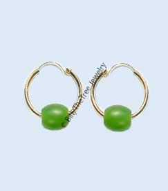 14K Gold and Polar Jade Earrings (UJKK-1783)