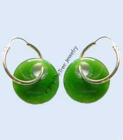 14K Gold and Polar Jade Earrings (UJKK-1786-1) - DISCONTINUED