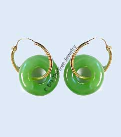 14K Gold and Polar Jade Earrings (UJKK-1787-1)