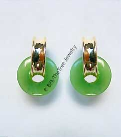 14K Gold and Polar Jade Earrings (UJKK-1788-1)
