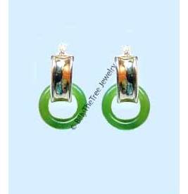14K Gold and Polar Jade Earrings (UJKK-1792)