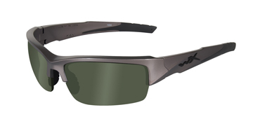 Wiley X Sunglasses - Valor Metallic Silver with Polarized Green Lens - Changeable Series - DISCONTINUED