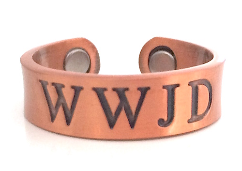 WWJD Copper Magnetic Therapy Ring (CR5)