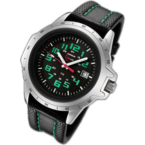 ArmourLite Tritium Watch - ColorBurst Series Leather AL203