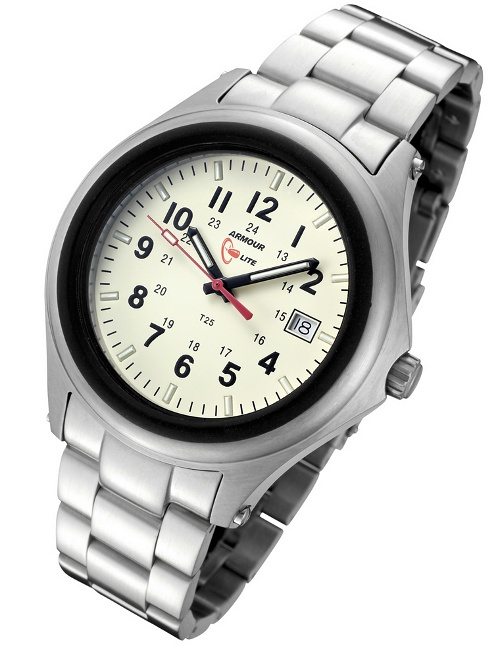 ArmourLite Tritium Watch - Captain Field Series Stainless Steel AL302