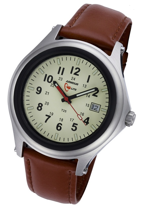 ArmourLite Tritium Watch - Captain Field Series Leather AL303 - DISCONTINUED