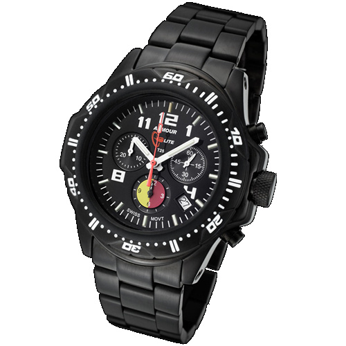 ArmourLite Tritium Watch - Professional Series Chronograph Stainless Steel Bracelet AL88