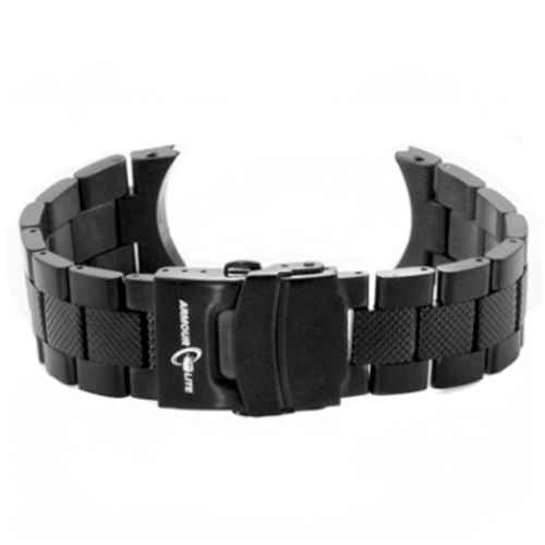 ArmourLite - Replacement Black Textured Stainless Steel Bracelet AL88BLK for Professional Series Watches (22mm)