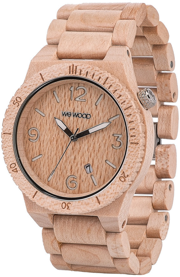 WeWood Wooden Watch - Alpha Beige (wwood06p)