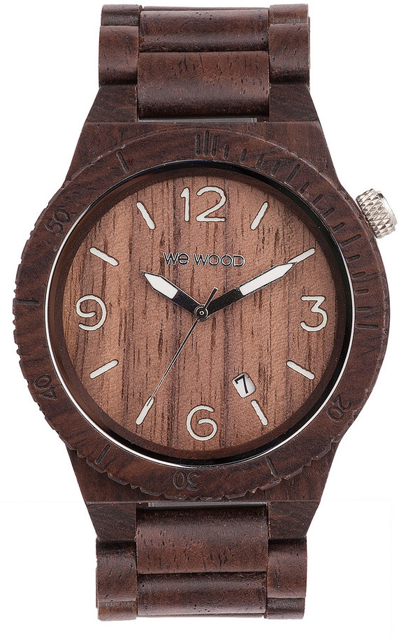 WeWood Wooden Watch - Alpha Chocolate (wwood05p)