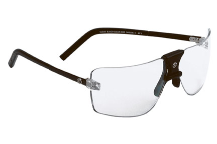 Gargoyles Sunglasses - ANSI Classic Black with Clear Lens - Protective Collection - DISCONTINUED