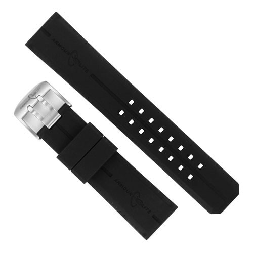 ArmourLite - Replacement Black NBR Band ARB600 for Caliber Series Watches (24mm)