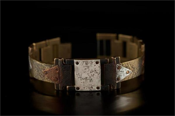 Brass Textured Design WatchCraft (R) Handmade Bracelet (B16)
