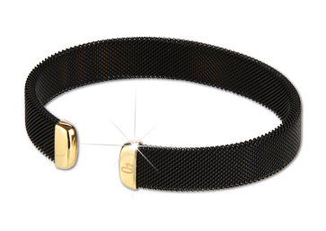 Q Ray - Midnight Series - Black & Gold Cuff Bracelet (Q410)