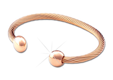 Q Ray - Deluxe Series - Rose Gold Deluxe Cuff Bracelet (Q581)