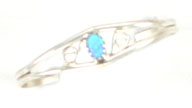 Opal Sterling Silver Baby Bracelet - Navajo Native American Handcrafted - DISCONTINUED