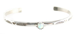 Silver Filled Synthetic Opal Bracelet - Navajo Native American Handcrafted - DISCONTINUED