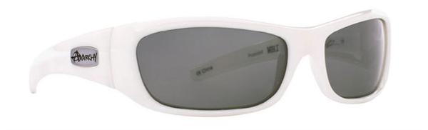 Anarchy Sunglasses - Blacken Shiny White - Polarized