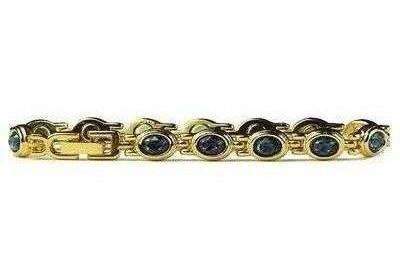 (Simulated) Sapphire Dreams (September) - Magnetic Therapy Bracelet (D499GBS)