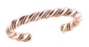 Twist Copper Mens Bracelet - Navajo Native American Handcrafted - DISCONTINUED