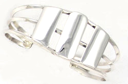 All Silver Cuff Bracelet  - Navajo Native American Handcrafted - DISCONTINUED
