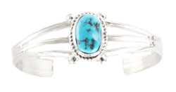 3-Shank Turquoise Bracelet - Navajo Native American Handcrafted - DISCONTINUED