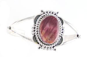 Purple Spiny Oyster Split Shank Bracelet - Navajo Native American Handcrafted - DISCONTINUED