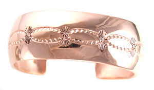 Wide Copper Cuff Bracelet - Navajo Native American Handcrafted - DISCONTINUED