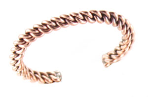 Wide Copper Wire Braided Bracelet - Navajo Native American Handcrafted - DISCONTINUED
