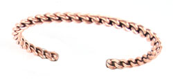 Copper Braided Bracelet  - Navajo Native American Handcrafted - DISCONTINUED