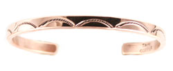 Copper Stamped Bracelet  - Navajo Native American Handcrafted - DISCONTINUED