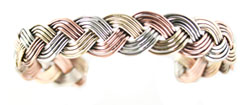 Tri-Color Braided Bracelet - Navajo Native American Handcrafted - DISCONTINUED