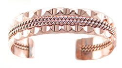 Copper Scallop/Twist Bracelet - Navajo Native American Handcrafted - DISCONTINUED