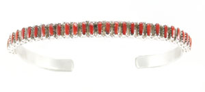 Coral Zuni Bracelet - Zuni Native American Handcrafted - DISCONTINUED