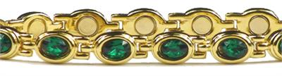 (Simulated) Emerald Dreams (May) - Magnetic Therapy Bracelet (D499GEG)