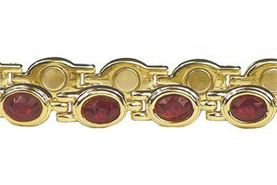 (Simulated) Garnet Dreams (January) - Magnetic Therapy Bracelet (d499gred)