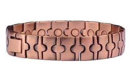 Copper Ovals - Magnetic Therapy Bracelet (CL-14)