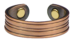 Copper Stripes - Magnetic Therapy Ring (CR-01)