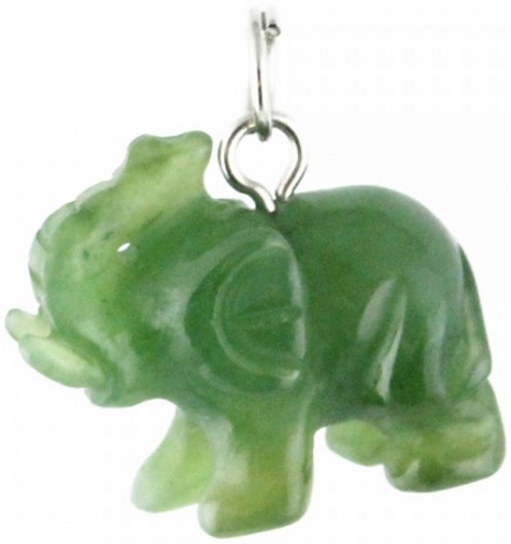 Jade Elephant Charm - LIMITED STOCK