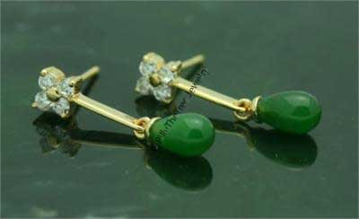 Polar Jade Teardrop Earrings (E0434)