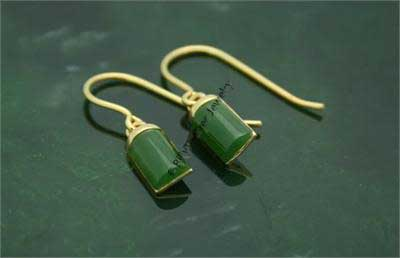 Polar Jade Rectangle Earrings (EH0104)