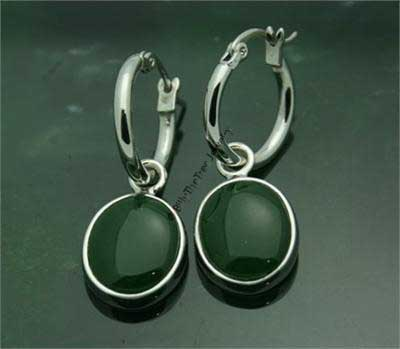 Jade Circle Earrings (EH0620) - DISCONTINUED
