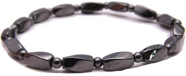 Hematite Twist Elastic - Magnetic Therapy Anklet