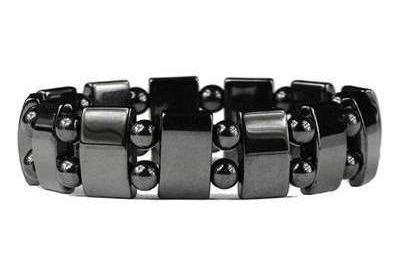 Two Stack Enforcer - Hematite Magnetic Therapy Bracelet (MHB-61316)