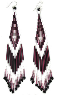 Long Assorted Beaded Earrings - Navajo Native American Handcrafted - DISCONTINUED