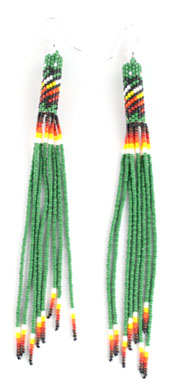 Long Dangle Beaded Earrings - Navajo Native American Handcrafted - DISCONTINUED