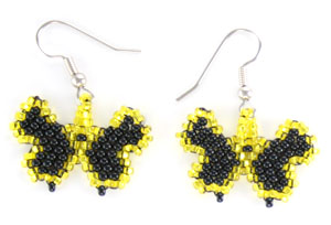 Beaded Butterfly Earrings - Navajo Native American Handcrafted - DISCONTINUED