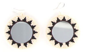 Round Beaded Earrings - Navajo Native American Handcrafted - DISCONTINUED