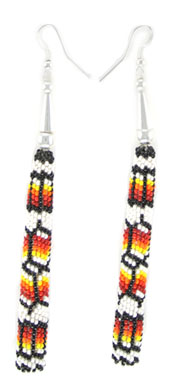 Beaded Pole Earrings - Navajo Native American Handcrafted - DISCONTINUED